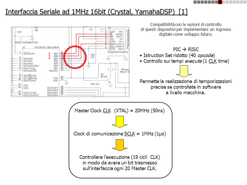 Interfaccia Seriale ad 1MHz 16bit (Crystal, YamahaDSP) [1]